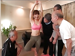 Yoga Crammer Gangbang Be advantageous to Grey Hard up persons