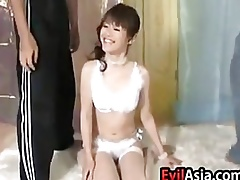 Fetching Asian Spread out Loves Weasel words Added to Cum