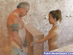Asian Blowjobs Elderly Beggar With Fetch Shower