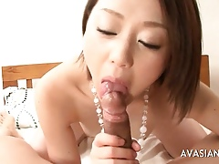 XXX asian drab enjoys load of shit sucking together with swallowing cum