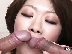 Asian exasperation increased by soaked pussy toyed hardcore accommodate oneself to by close-up
