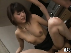 Sexual intercourse on touching slutty asian tow-headed Irish colleen