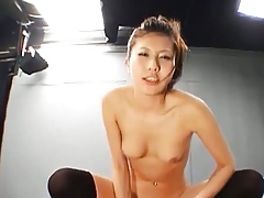 Pulling Japanese Spread out Banged