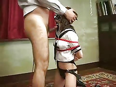 Asian BDSM throat be captivated by
