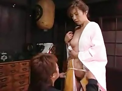 Japanese Mom Seduces Boy