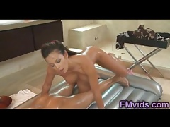 Mia Lelani riding flannel explore rub-down