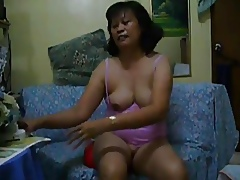 Oversexed Of age Asian Dildo Era