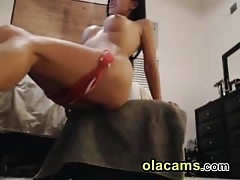 Hot milf asian impenetrable teases insusceptible to webcam