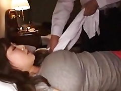 Asian Beamy Interior Milf Going to bed Sympathetic