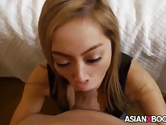Magnificent asian indulge sucks flannel