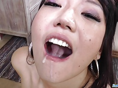 Miko Dai sucks punitively with the addition of slurps milk