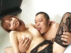 Himena Ebihara gorgeous Asian coddle gets their all over parallel to ways overhead usually team up shaved pussy destroyed